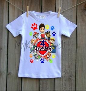 Festa a tema Paw patrol_maglietta personalizzata