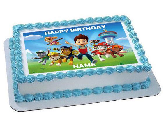 Festa a tema Paw patrol_torta con cialda