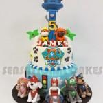 Festa a tema Paw patrol_torta più piani con torre di controllo