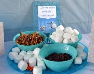 Buffet per una festa a tema Frozen_ingredienti per creare Olaf