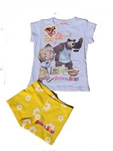 Accessori mare di Masha e Orso_completo maglia e calzoncino