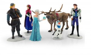 decorazioni per torte di Frozen_ set personaggi di plastica