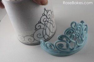 decorazioni per torte di Frozen_ tiara
