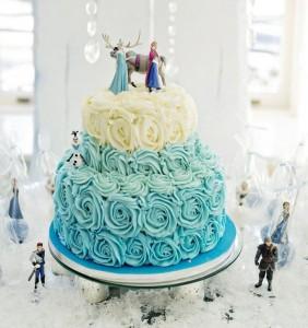 decorazioni per torte di Frozen_ torta effetto rose