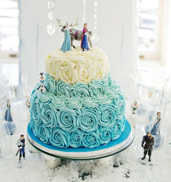 Decorazioni per torte di frozen torta effetto rose for Decorazioni torte tema mare