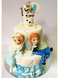 decorazioni per torte di Frozen_Elsa e Anna