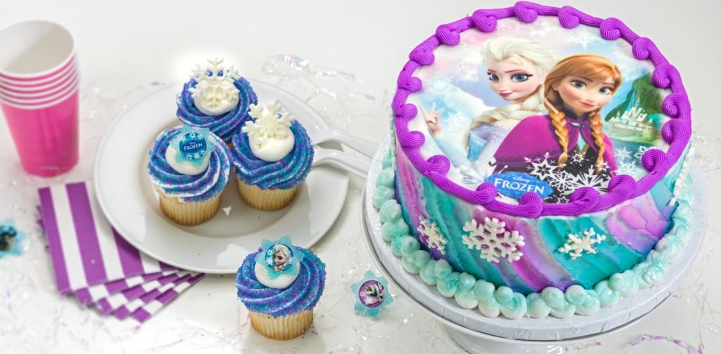 decorazioni per torte di Frozen_torta con cialda