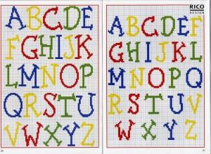 schemi punto croce alfabeto
