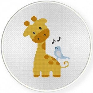 schema punto croce baby giraffa