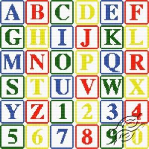 schema punto croce lettere