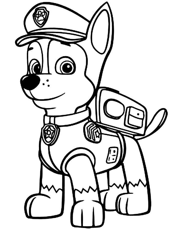 Disegni della paw patrol da stampare gratis chase for Disegni di paw patrol