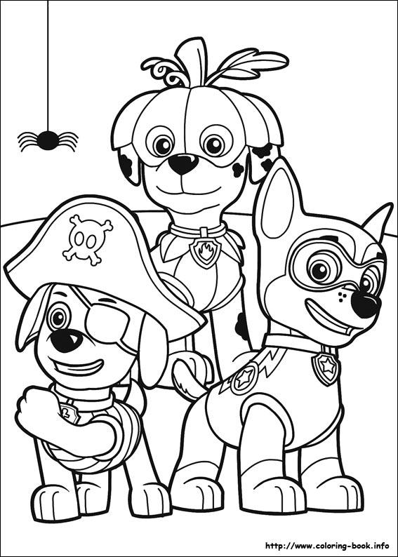 Disegni della paw patrol da stampare gratis marshall zuma for Paw patrol disegni da colorare