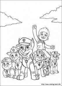 Disegni della Paw Patrol da stampare gratis_la squadra al completo