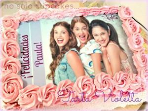 Torte di compleanno Violetta_cialda di zucchero e panna montata