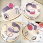 Torte di compleanno Violetta_design semplice