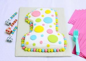decorazioni facili per torte primo compleanno_torta numero uno unisex.