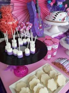 festa a tema Violetta_buffet