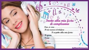 festa a tema Violetta_inviti compleanno Violetta