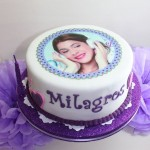 festa festa tema Violetta_torta cialda