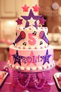 festa a tema Violetta_torta con le stelle