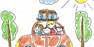 genitori al volante: i bambini ci guardano
