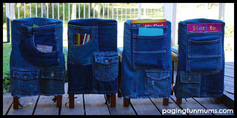 Dieci idee per riciclare i jeans for Porta quaderni