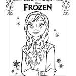 Disegni da colorare di Frozen da stampare gratis_Anna