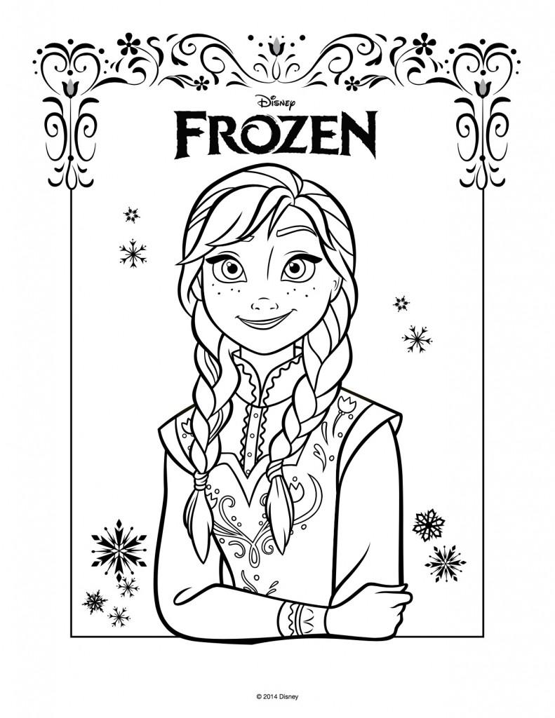 Disegni Da Colorare Di Frozen Da Stampare Gratis Anna Blogmamma It
