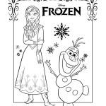 Disegni da colorare di Frozen da stampare gratis_Anna e Olaf