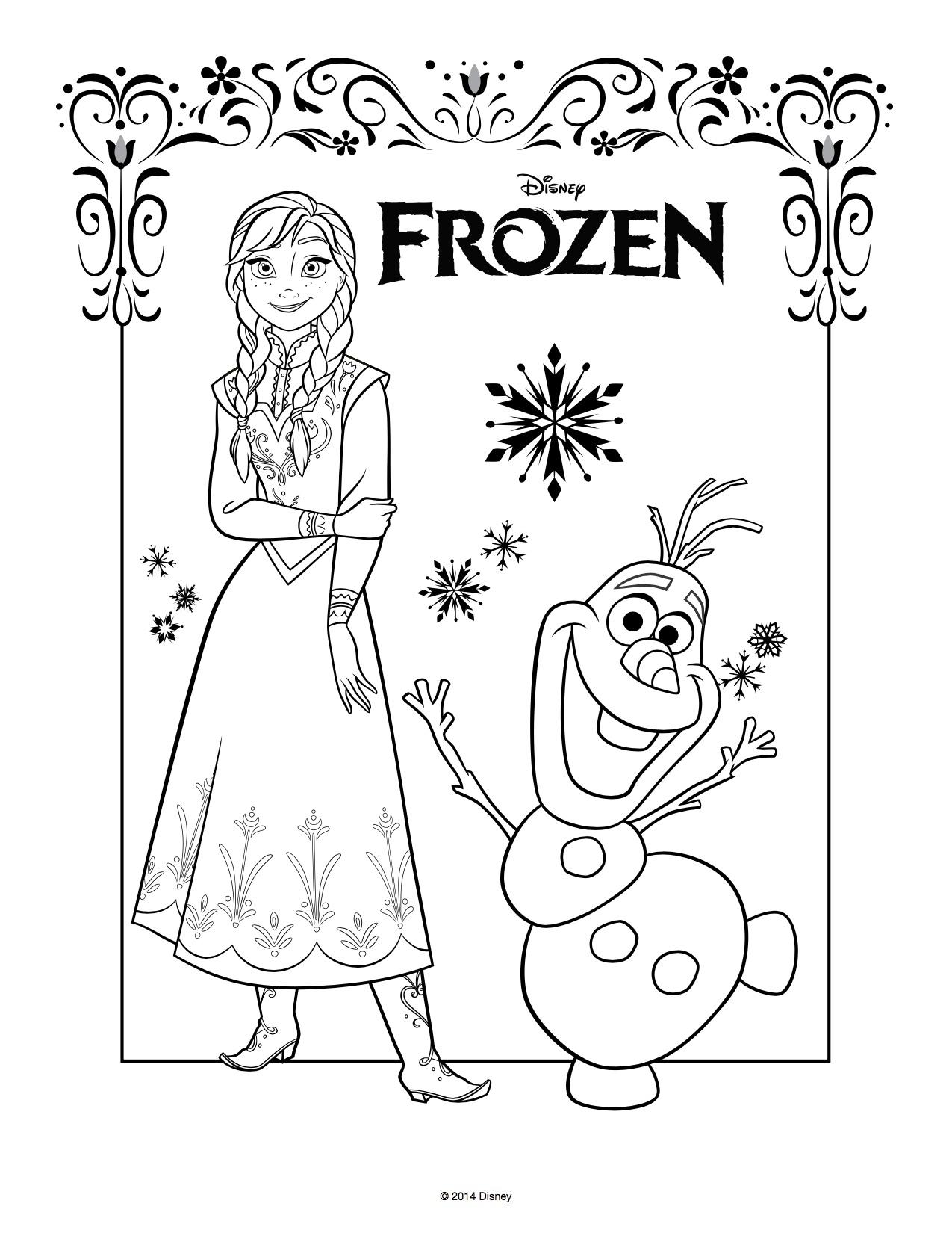 Disegni da colorare di frozen da stampare gratis anna e for Disegni frozen da colorare