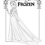 Disegni da colorare di Frozen da stampare gratis_Elsa figura intera