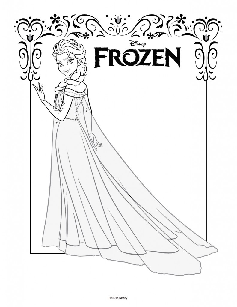 Disegni Da Colorare Di Frozen Da Stampare Gratis Elsa Figura