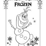 Disegni da colorare di Frozen da stampare gratis_Olaf