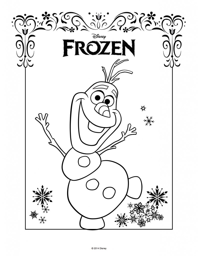 Disegni Da Colorare Di Frozen Da Stampare Gratisolaf Blogmammait