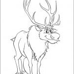 Disegni da colorare di Frozen da stampare gratis_Sven