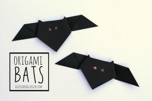 Halloween: pipistrelli fai da te con la carta_origami