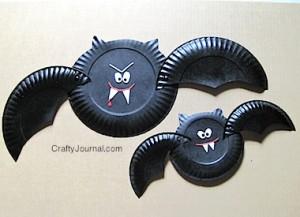 Halloween: pipistrelli fai da te con materiale di riciclo_piatti