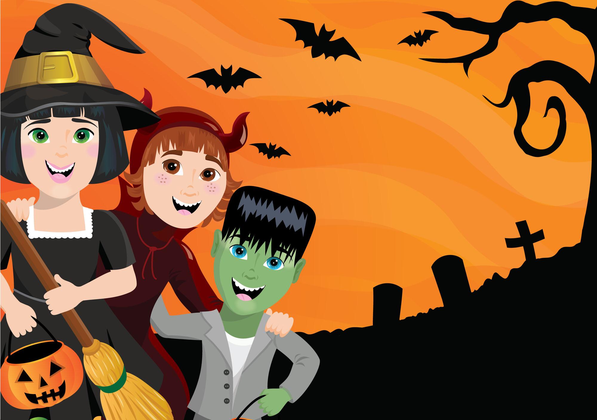 Halloween: pipistrelli fai da te_bambini in maschera per halloween