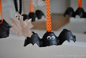 Halloween: pipistrelli fai da te_con materiale di riciclo_scatola delle uova