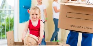 Consigli per traslocare con i bambini