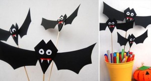 Halloween: pipistrelli fai da te con la carta