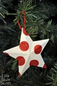 Decorazioni di Natale fai da te con la carta_stelle