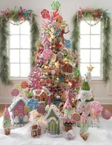 Decorazioni di Natale fai da te con le caramelle_albero di Natale completo