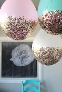Festa a tema principesse fai da te_decorazioni-palloncini con brillantini