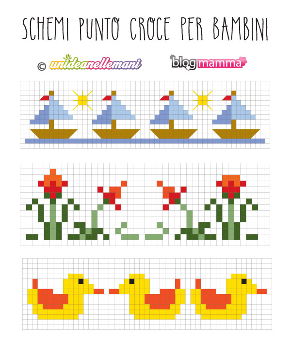 Amato Schemi Punto Croce Bordure per Bambini - Blogmamma.it : Blogmamma.it MU61