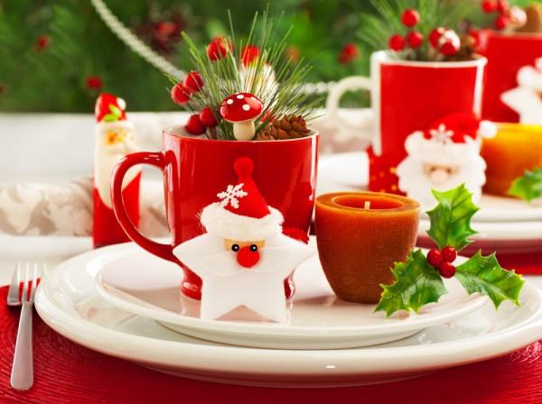 Segnaposto di Natale_biscotto con Babbo Natale in pasta di zucchero
