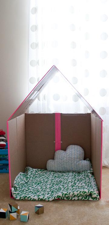 arredare camerette bambini con materiale di riciclo