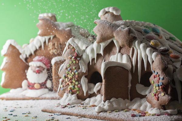 dolci decorati pasta di zucchero per Natale