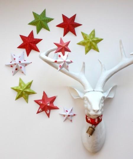 stelle fai da te per lavoretti e decorazioni di Natale