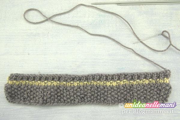striscia a maglia per scarpine